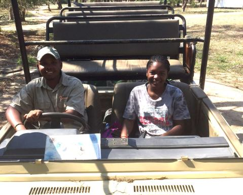 Montinho (Gorongosa Guides) and Michel (Projecto Leões Intern) just returning from checking in on Nginga the lion